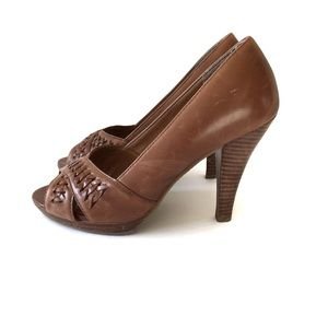 Aldo leather brown heels sandals size 38